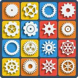 Gears shapes  set. Royalty Free Stock Photos