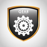 Gears shield design Royalty Free Stock Photo