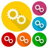 Gears sign icon. Simple vector icon Stock Image