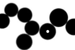 Gears silhouette Stock Photo
