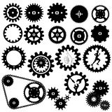 Gears silhouette vector Stock Photo