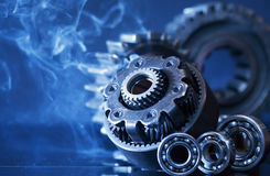 Gears In Smoke Royalty Free Stock Photo