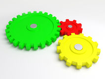 Gears of the some mechanism Royalty Free Stock Image