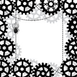 Gears, spider and chains Royalty Free Stock Photography