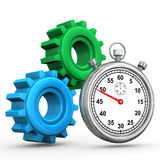 Gears Stopwatch Royalty Free Stock Image