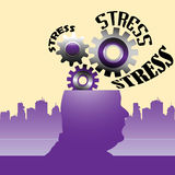 The gears of stress Royalty Free Stock Photo