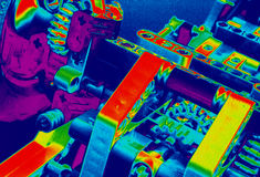 Gears and suspension multicolor Royalty Free Stock Images