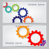Gears symbol banner background concept. Stock Photo