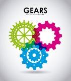 gears symbolen vektor illustrationer