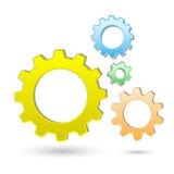 gears symbolen Arkivbilder