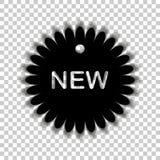 gears symbolen ny etikett Royaltyfri Bild