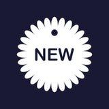 gears symbolen ny etikett Royaltyfri Foto