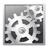 gears symbolsmetall Arkivbilder
