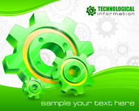 Gears on technical background Royalty Free Stock Photo