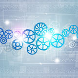 Gears Technology Background Stock Image