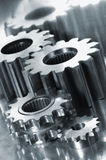 Gears in titanium Royalty Free Stock Images