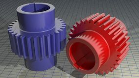 Gears - Toothed wheels Royalty Free Stock Photo