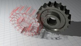 Gears - Toothed wheels: from design to production Royalty Free Stock Photography