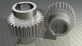 Gears - Toothed wheels Royalty Free Stock Images