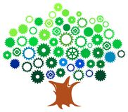 Gears tree Royalty Free Stock Photos