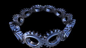 Gears twisting. For use as background or else stock video