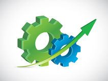 Gears and up arrows illustration design Royalty Free Stock Photography