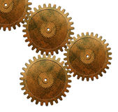 Gears used in automotive engine stock photography