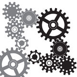 Gears vector background Stock Images