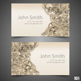 Gears vector business card Royalty Free Stock Photo