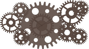Gears. A vector drawing represents gears design Royalty Free Stock Image