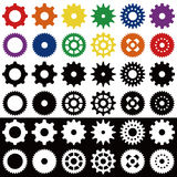 Gears. Vector Gear symbols. Easy to edit and manipulate Royalty Free Stock Images
