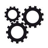 Vector Cog Icons (black & White) Stock Vector ...