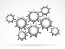 Gears. Vector illustration of Gray gears as teamwork concept Stock Images