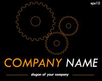 Gears vector logo template, ready logotype for a company or a br Royalty Free Stock Image