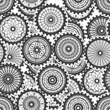 The gears. Vector gears seamless background in the style of steampunk Stock Images