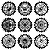 The gears. Vector gears set in the style of steampunk royalty free illustration