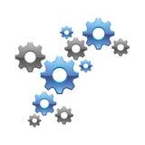 gears vektorn royaltyfri illustrationer