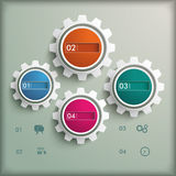 4 Gears Vintage Background PiAd. Infographic design on the grey background. Eps 10  file Royalty Free Stock Photos