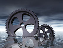 Gears in the Water vector illustration