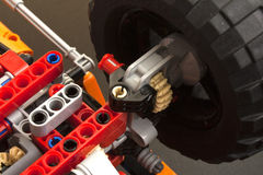 Gears, wheel and suspension Stock Images