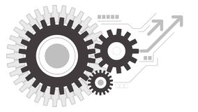 Gears wheels creative working icon background royalty free illustration