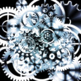 Gears wheels design Stock Photos