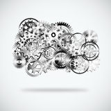 Gears wheels design Stock Images