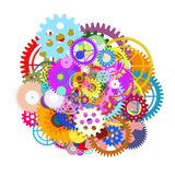 Gears wheels design Royalty Free Stock Images