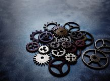 Gears and wheels grunge Royalty Free Stock Image