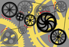 Gears and wheels moving Stock Photo