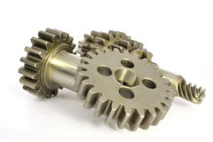 Gears on white Royalty Free Stock Image