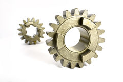 Gears on white Stock Photography