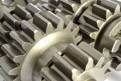 Gears on white Royalty Free Stock Images