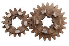 Gears on a white background Royalty Free Stock Images